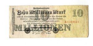 XXX-Rare-genuine-10-Million-Mark-weimar-inflation-banknote-1923-in-a-fine-con