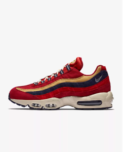 Details about New Nike Men's Air Max 95 Premium Shoes (538416 603) Red CrushWheat Gold Red