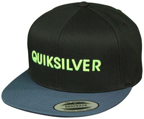 Black//Indigo//Lime Quiksilver Mens Top Shelfer Snapback Hat