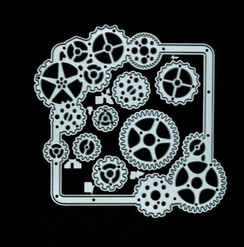 Corte De Metales Die Marco con COGS elaboración de tarjetas Steampunk E1 álbumes de recortes