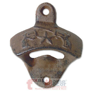 Rustic Star Crossed Pistols Beer Bottle Opener Cast Iron