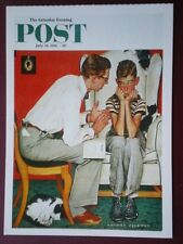 POSTCARD ADVERT SATURDAY EVENING POST F/PAGE  DATED  14 JULY 1951  - THE JOY OF