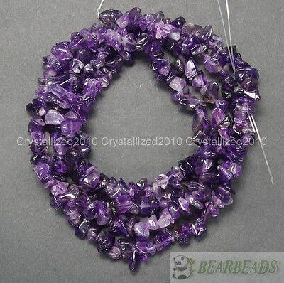 Natural Amethyst Gemstone 5-8mm Chip Beads Spacer 35'' Bracelet Necklace Making