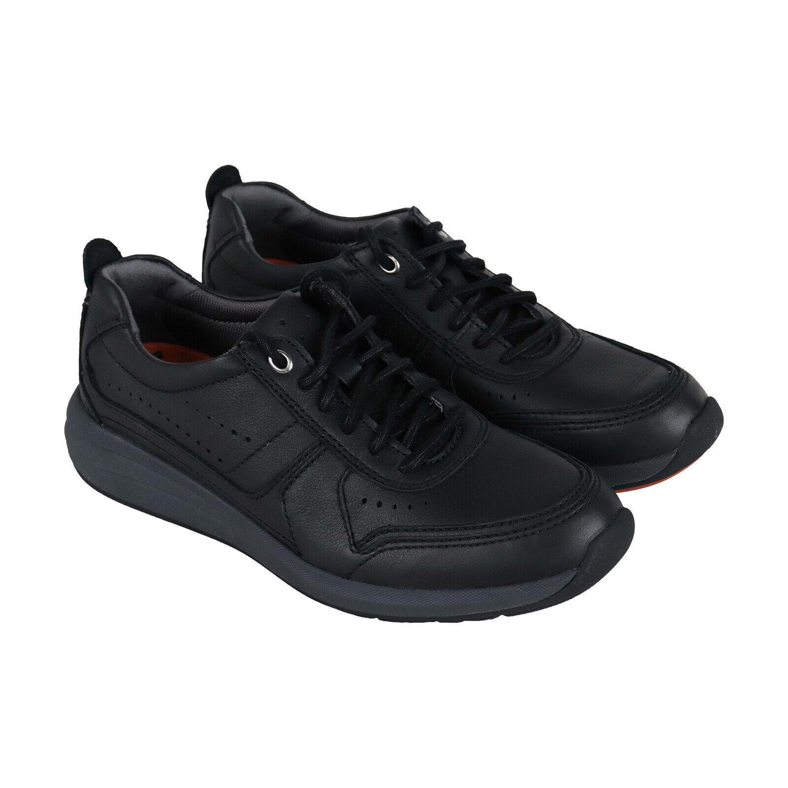 Clarks Un Coast Form homme en cuir noir Faible Top Lace Up paniers chaussures