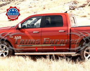 fits-2009-2018-Dodge-Ram-Crew-Cab-4Pc-Flat-Body-Side-Molding-Trim-1-5-034