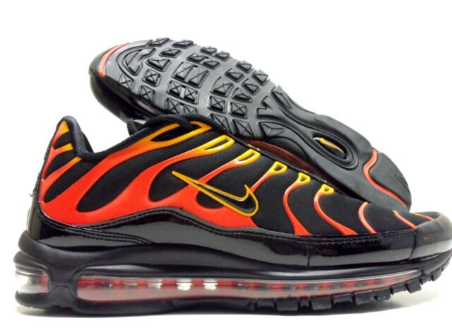 detailed look a1612 21deb Nike Air Max 97 / Plus Shock Orange Black Engine Ah8144 002 US Mens Sz 12