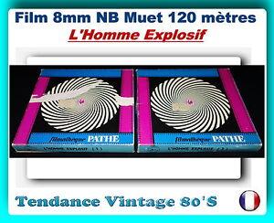 FILM-8MM-NB-MUET-120-METRES-L-039-HOMME-EXPLOSIF-COMEDIE-1949-JEAN-TISSIER