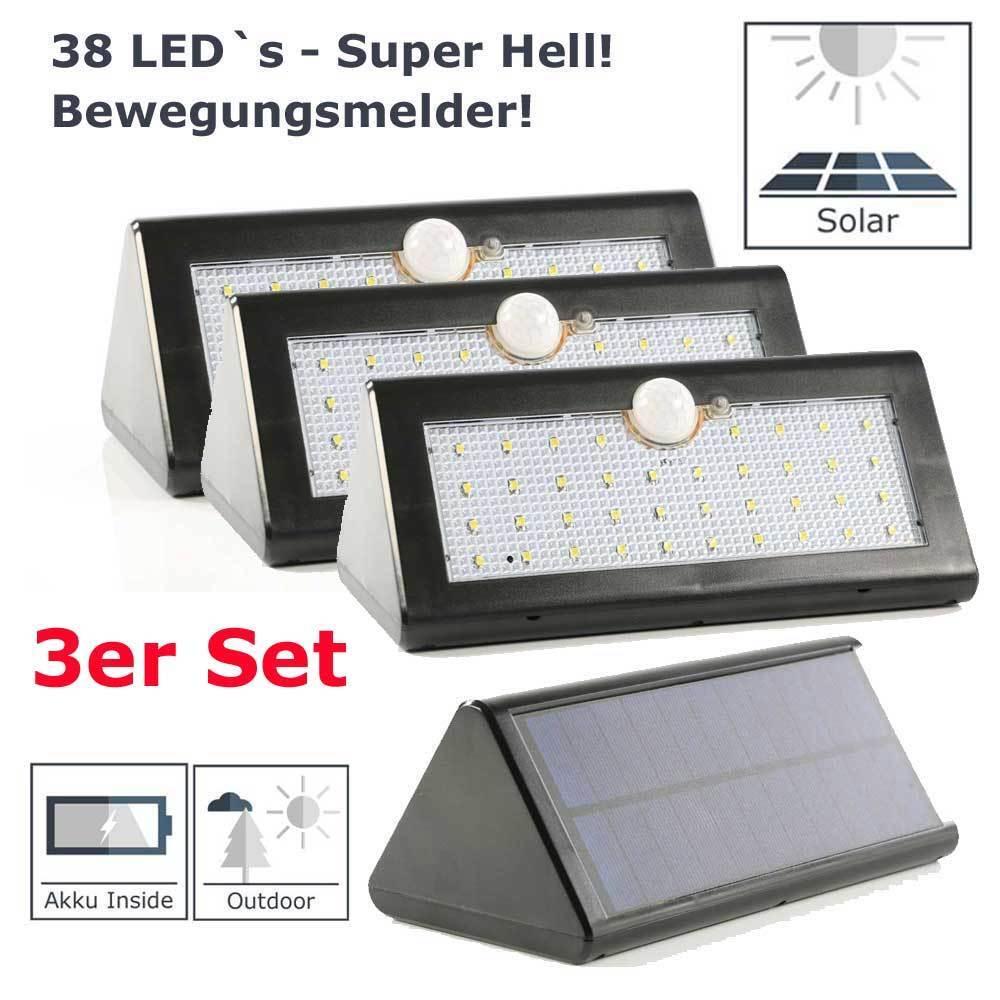 LED de parojo lámpara eh con detector de movimiento y bateria 3er set