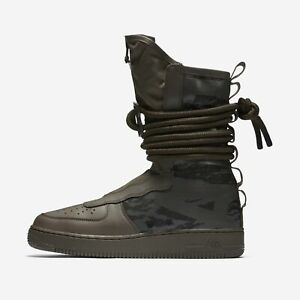 Para hombres Nike SF Air Force 1 Botas Altas Ridgerock Negro ...