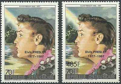 Brilliant Timbres Musique Elvis Presley Centrafrique 755/6 ** 32177i Topical Stamps