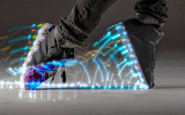 """1a9b0557 Neon Kyx by""""Y-Volution"""" - High Top LED Light Up Shoes – Black – Size ..."""