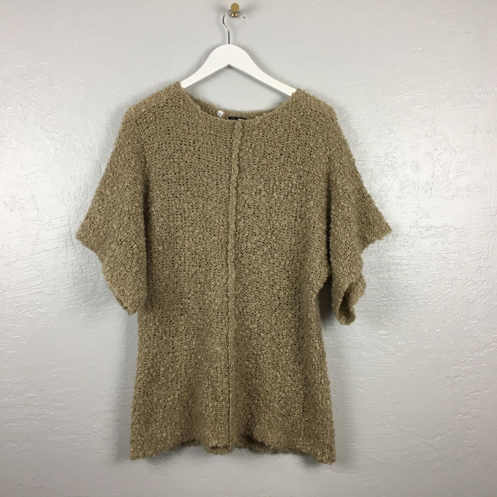 Cheap Monday Womens Sz M Oversized Beige Chunky Knit Sweater Zyracuse