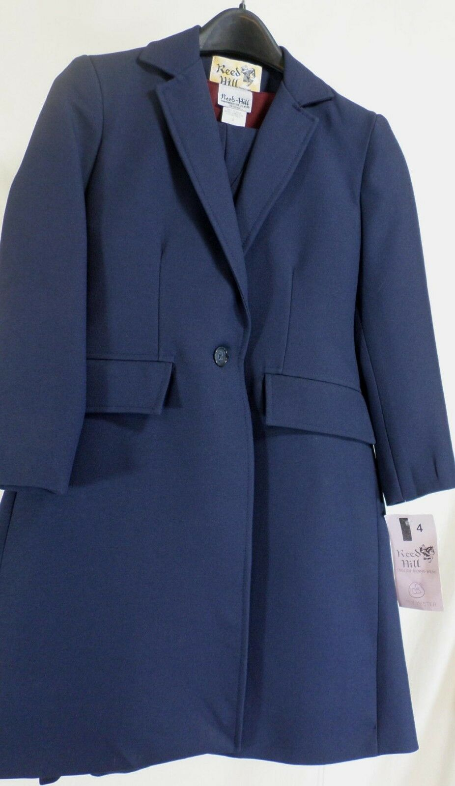 Reed Hill Saddleseat  lds 3pc suit Navy  poly size 4 - USA  more discount