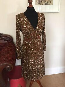 ISSA LONDON Uk S 12 Gorgeous Jersey Silk Patterned CLASSIC ISSA Dress UK 12 US 8