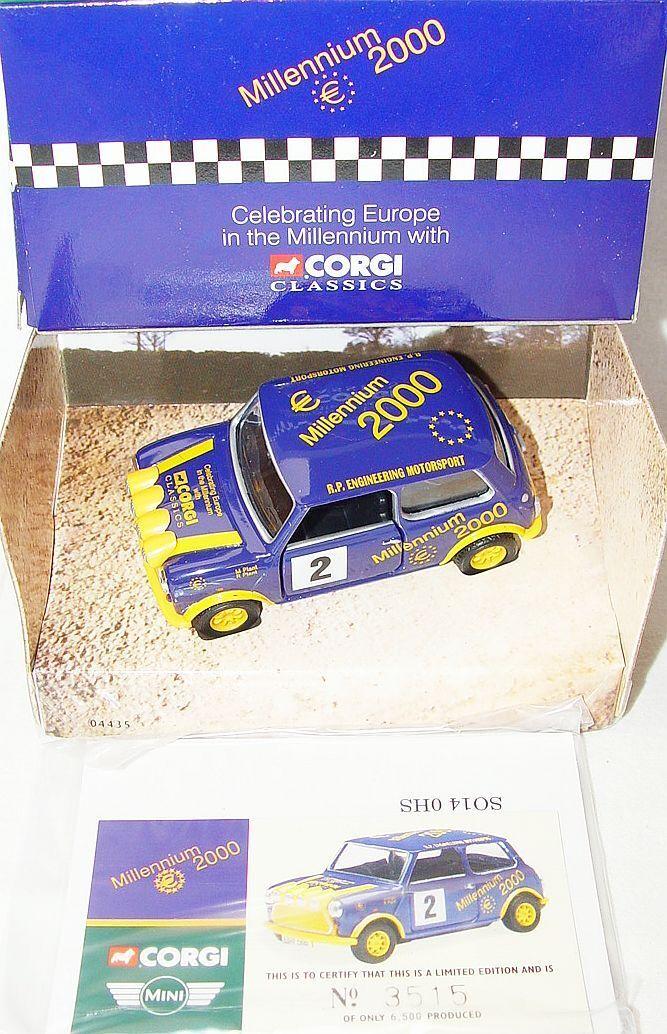 Corgi Juguetes 1 36 Morris Mini Cooper  Millennium 2000  M. Planta Modelo de coche de menta en caja Rare