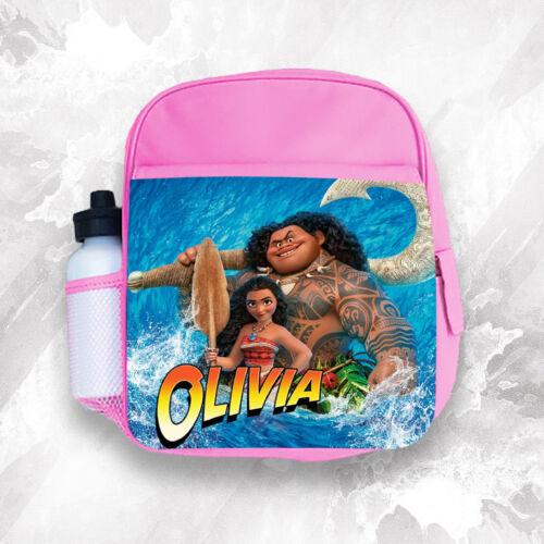 Personalised Kids Backpack Any Name Moana Girl Childrens School Bag 1