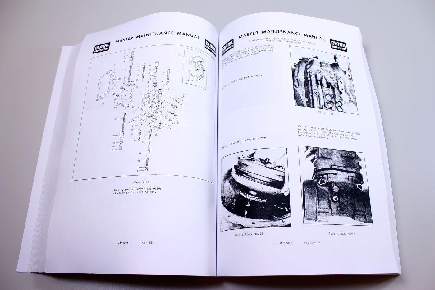 Clark C500-h40 C500-h45 Forklift Service Repair Shop Manual C500h40 C500h45  | eBay