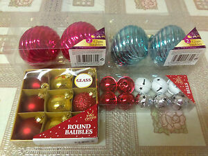 Christmas Tree Decorations MIXED Baubles 23 pieces in a 4 pack MULTI COLOURS - Bradford, West Yorkshire, United Kingdom - Christmas Tree Decorations MIXED Baubles 23 pieces in a 4 pack MULTI COLOURS - Bradford, West Yorkshire, United Kingdom