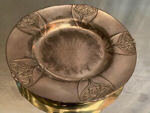 Dessous de bouteille en métal argenté design Art Nouveau signé GALLIA
