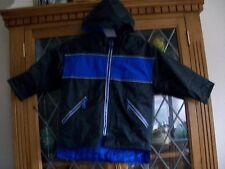 Wippette BLACK & BLUE HOODED RAIN JACKET 5-7Yrs **GC**