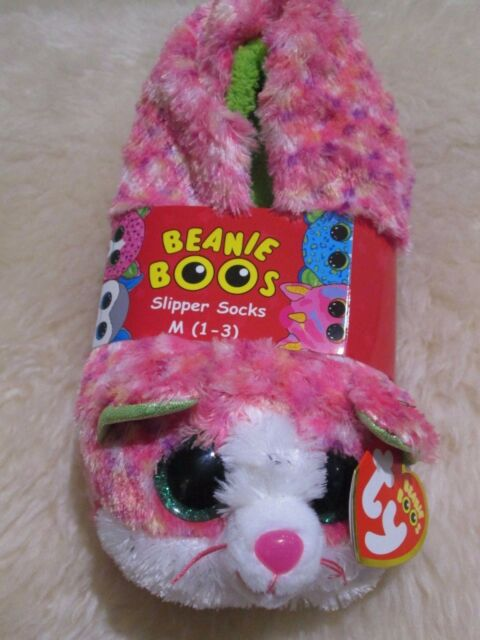Ty Beanie Boos Girls Sophie The Kitten Pink SLIPPER Socks Size Large 4-6 911dc23ab09a