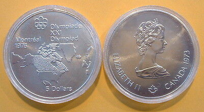 TOTAL PURE SILVER 1.446 TROY OZ CANADA 1976 OLYMPIC $10 COIN .925 FINE 48.6 GR