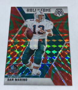 2020 NFL Mosaic Dan Marino HOF Green Reactive Prizm SP #292 Miami Dolphins