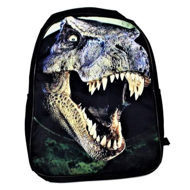 Jurassic Dinosaur T-Rex School Backpack 3D Print Boys  Kids  Travel Bag c0d3506ea8c41