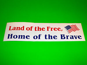 America Land of the Free DECAL Car Truck Concession Sticker CHOOSE YOUR SIZE
