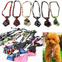 New Dog Cat Puppy Kitty Adjustable Necktie Adorable Bow Tie Collar Pet Accessory