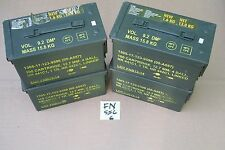 (FOUR) US Military Issued 5.56 MM Caliber .50 CAL M2A1 Ammo Can Box US Surplus