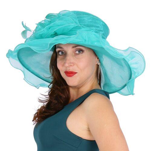 in Elegante sposa cappello nuovo da da da donna cappello organza verde  organza cappello in sposa q7waqz8rx 949de5aaf446