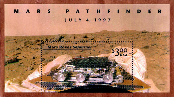 1997 $3 Mars Rover Sojourner, Souvenir Sheet of 1 Scott