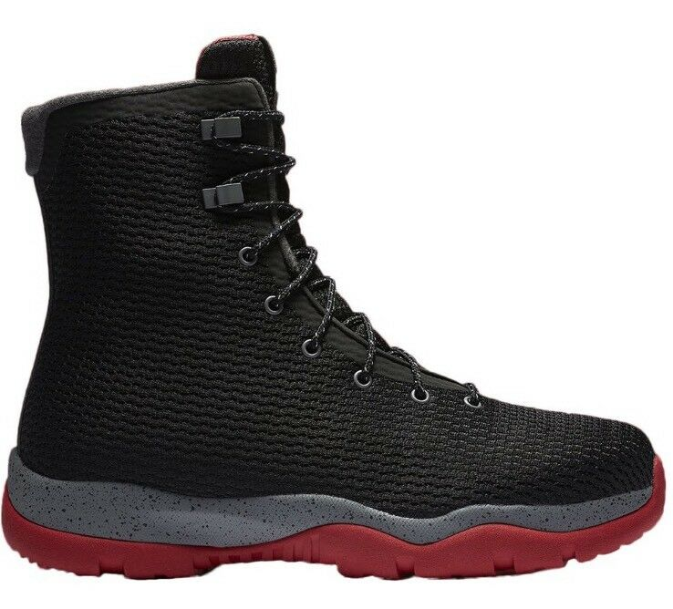 MSRP MEN'S AIR JORDAN FUTURE WATERPROOF BOOT BLACK / RED SZ: 8,10