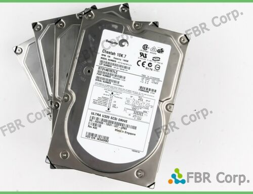 146GB Dell 0GC828 Seagate Cheetah 10k 3.5 U320 SCSI HDD Hard Drive ST3146707LC