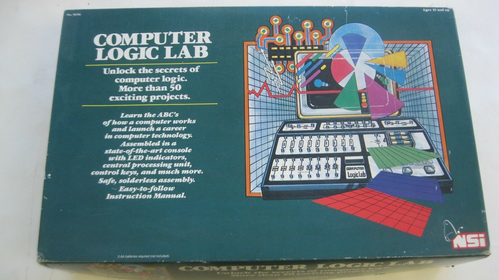 NSI - COMPUTER LOGIC LAB, WITH MANUAL, 10   X 16 , VERY FINE CONDITION
