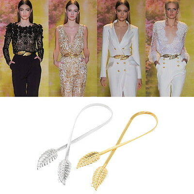 New Style Lady's Fashion Women Trendy Belt Alloy Leaf Waistband Waist Belt OE