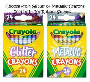 Great-Kid-039-s-Gift-Neon-Pearl-or-Metallic-Crayola-24-ct-Crayons-or-8-ct-Markers