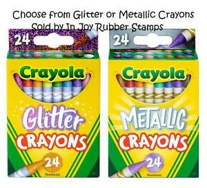 SCHOOL-SUPPLIES-Crayola-24-ct-Crayons-Choose-Glitter-or-Metallic