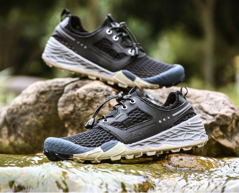 Mens Mesh Sport Hiking shoes Lace Up Round Toe Breathable Comfort Outdoors C931