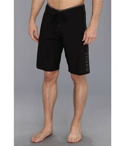 9203b13f59 New O'NEILL board shorts HYPERFREAK solid black Santa Cruz stretch ...