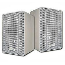 Acoustic Audio 251W Indoor Outdoor 3 Way Speakers 400 Watt White Pair