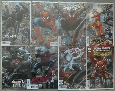Amazing Spider-Man 32 34 35 Art Adams Complete 8-Part Connecting Variant Set NM