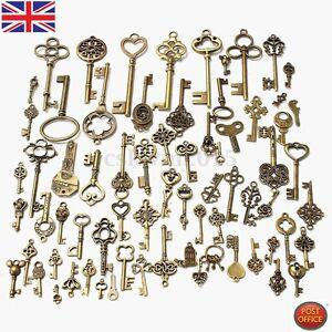 70pcs-set-Antique-Vintage-Old-Look-Bronze-Skeleton-Keys-Fancy-Heart-Bow-Pendant