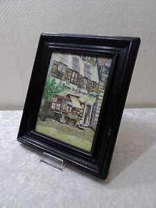 Dipinto su Cornice di Legno - Vintage - Casa Con Scarica