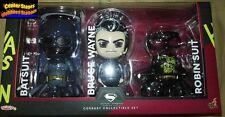 Hot Toys Cosbaby Batman Bruce Wayne Batsuit & Robin Suit Set Dawn of Justice NEW