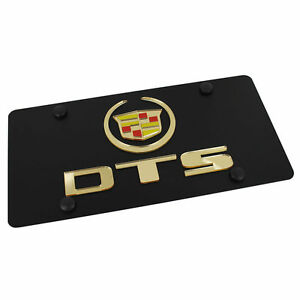 Cadillac SRX Gold Fill Stainless Steel License Plate