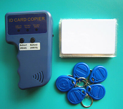 RFID Handheld Duplicator Copier 125KHZ Card Writer +5 EM4305 Tags +5 T5577 Cards