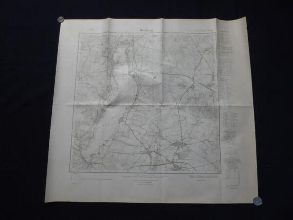 100% QualitäT Landkarte Meßtischblatt 3750 Herzberg, Bad Saarow, Wend. Rietz, Pieskow, 1945