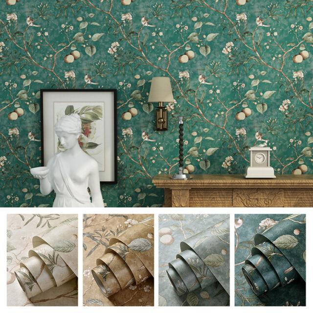 Blue Phoebe Birds Wallpaper Rolls Holden 50140 For Sale Online Ebay